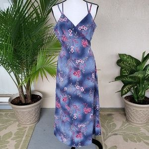 Blue floral dress by Rolling Over Inc